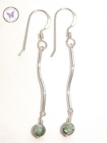 Sterling Silver Seraphinite Earrings